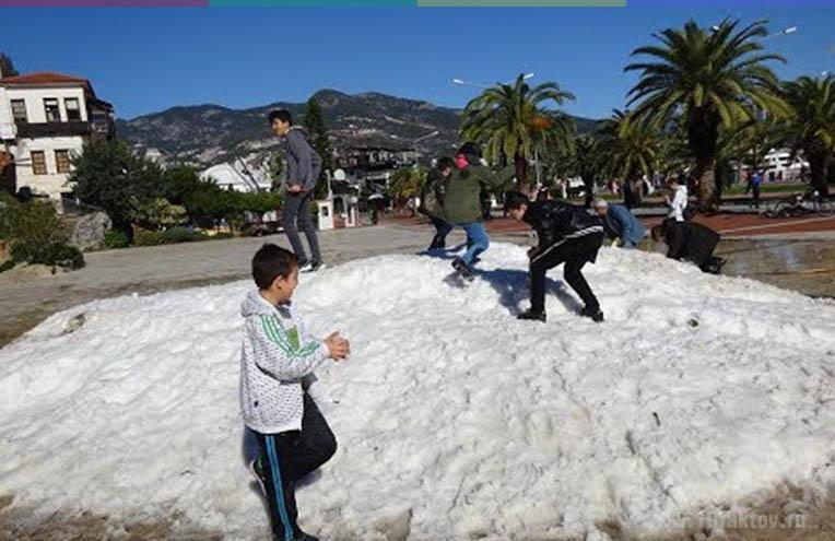 Погода в Турции в декабре - январе