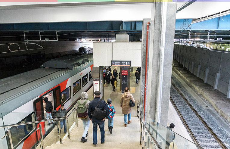 Переход с метро Кутузовская на МЦК